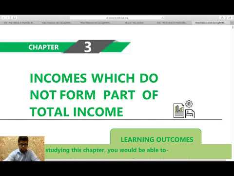 Income Tax - Section 10 - Income Which Do Not Forms Part Of Total Income ( CA CS CMA Inter And Exec)