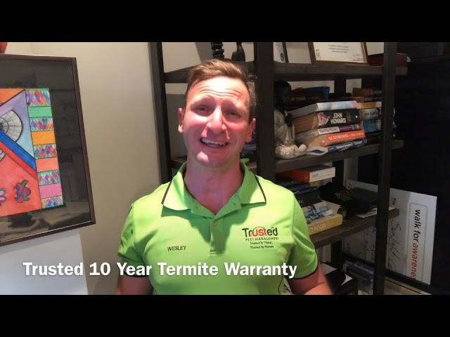Trusted 10 Year Termite Warranty