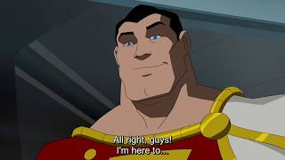 Captain Marvel traveling between universes - Young Justice 1x19