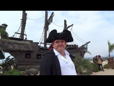 """The Black Pearl in Santa Monica for """"Pirates of the Caribbean: Dead Men Tell No Tales"""" on home video"""
