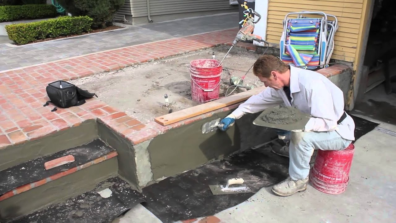 Straighten bowed concrete wall with stucco  YouTube