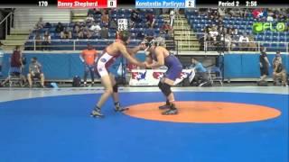 Junior 170 - Danny Shepherd (Utah) vs. Konstantin Parfiryev (New York)