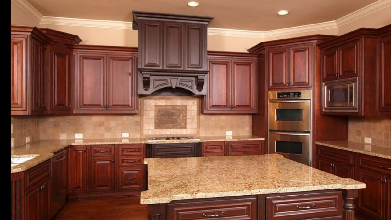 Kitchen Backsplash Ideas With Cherry Cabinets Youtube