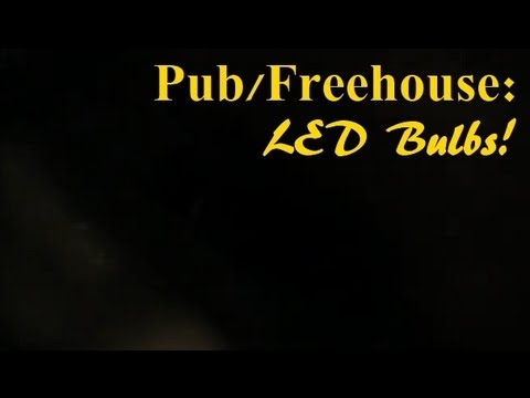 P2/2. (Night Time Pub DIY) Bar Lights - The Final Fitting of LED Bulbs to the Bar Brass Light.