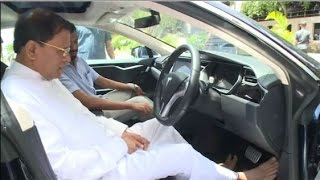 The President taking an imported Eco-friendly car on a test drive