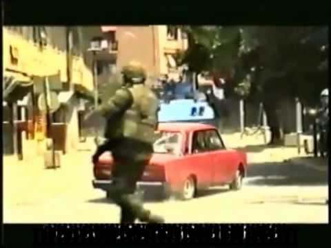 SERB MILITARY WITHDRAWS FROM KOSOVO PRIZREN 1999