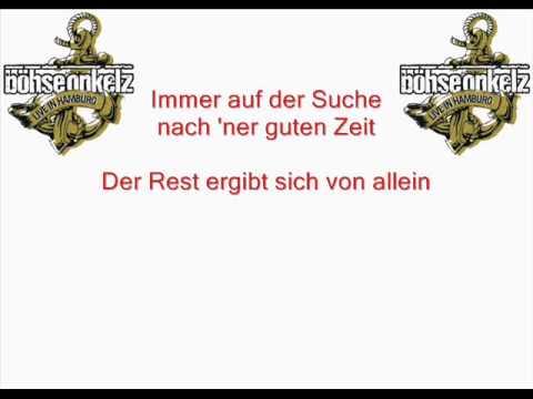 Böhse Onkelz - Immer auf der Suche (Live + Lyrics) mp3
