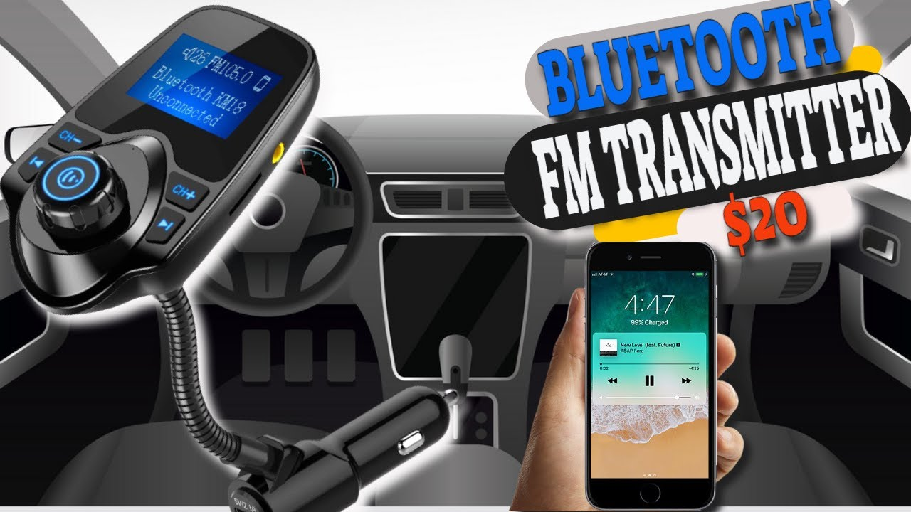 car bluetooth receiver fm transmitter review with test song youtube. Black Bedroom Furniture Sets. Home Design Ideas