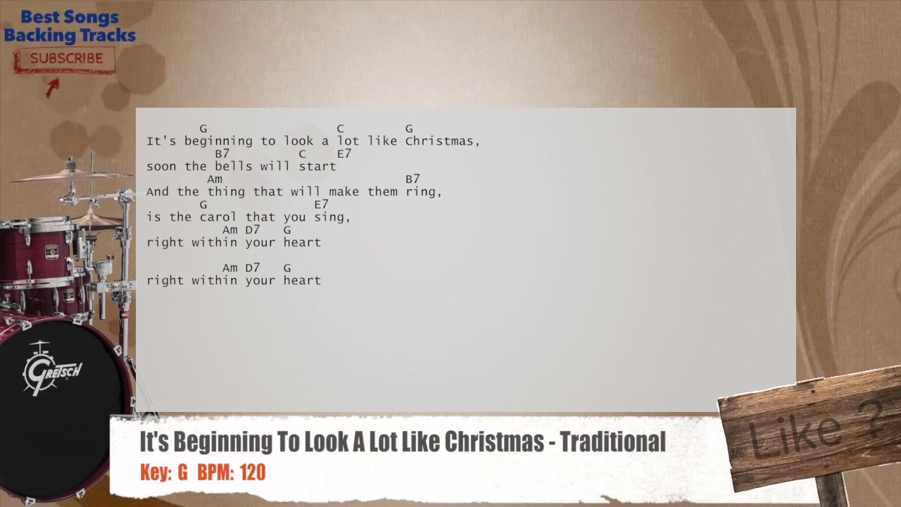 It\'s Beginning To Look A Lot Like Christmas - Traditional Drums ...