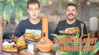 Smoking and Eating at America's First Cannabis Cafe!! [News Bites]