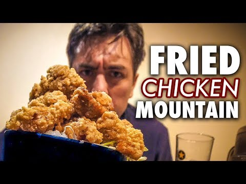 Eating a Mountain of Crispy Japanese Fried Chicken
