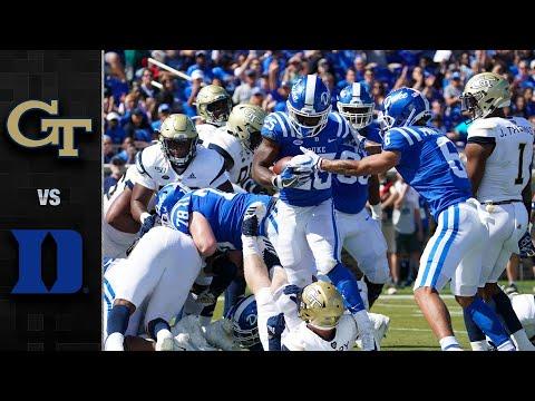 Georgia Tech Vs. Duke Football Highlights (2019)