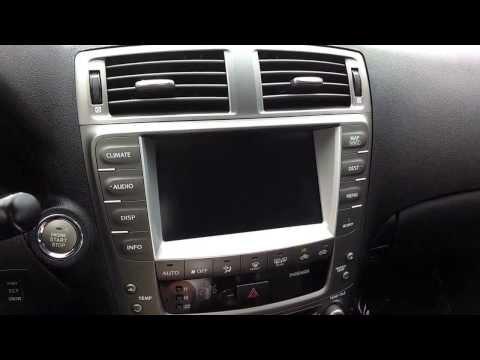 Lexus-2007 IS250 (w/ nav.) Screen Adjustments