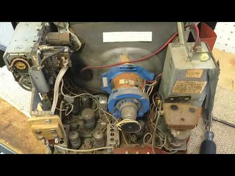 Servicing a 1960s Philco S-1262bk black and white vacuum tube tv. Part 1/2