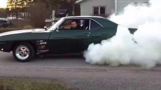 1969 pontiac firebird burnout