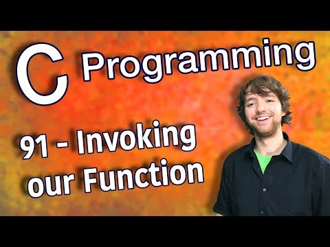 C Programming Tutorial 91 - Invoking our Function (Functions Part 2) thumbnail