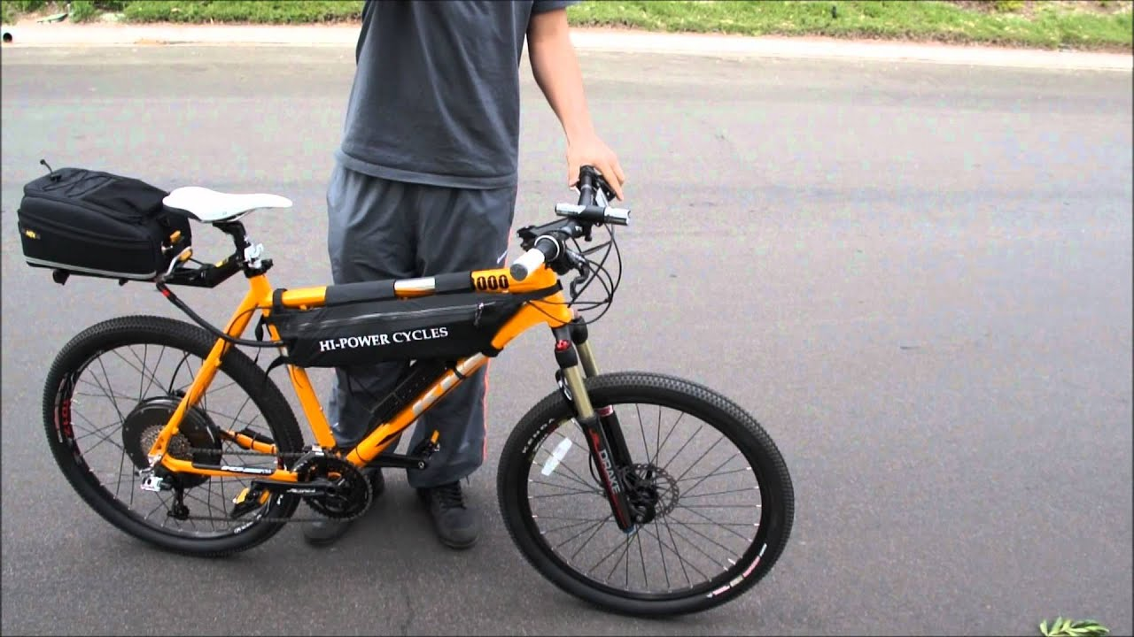 36mph 110 Mile Range Lithium Powered Ebike Commuter 3000w Youtube