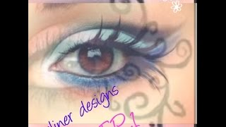 SCARED THE S**t OUT OF MY SISTER!! / how to draw a design on your face with eyeliner?!