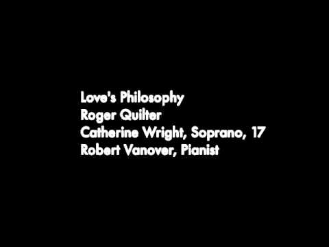 Love's Philosophy, Catherine Wright, Soprano - YouTube
