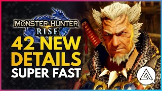 Monster Hunter Rise | 42 New Gameplay Details But Super Fast