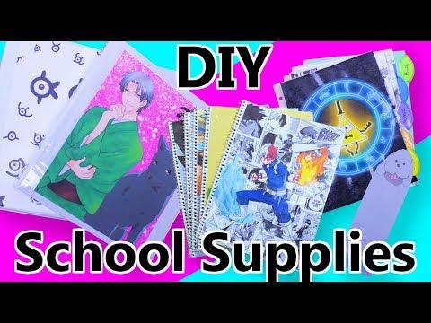 DIY Anime and Cartoon School Supplies