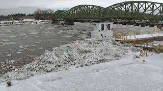ICE JAM at USGS NY Water Science Center