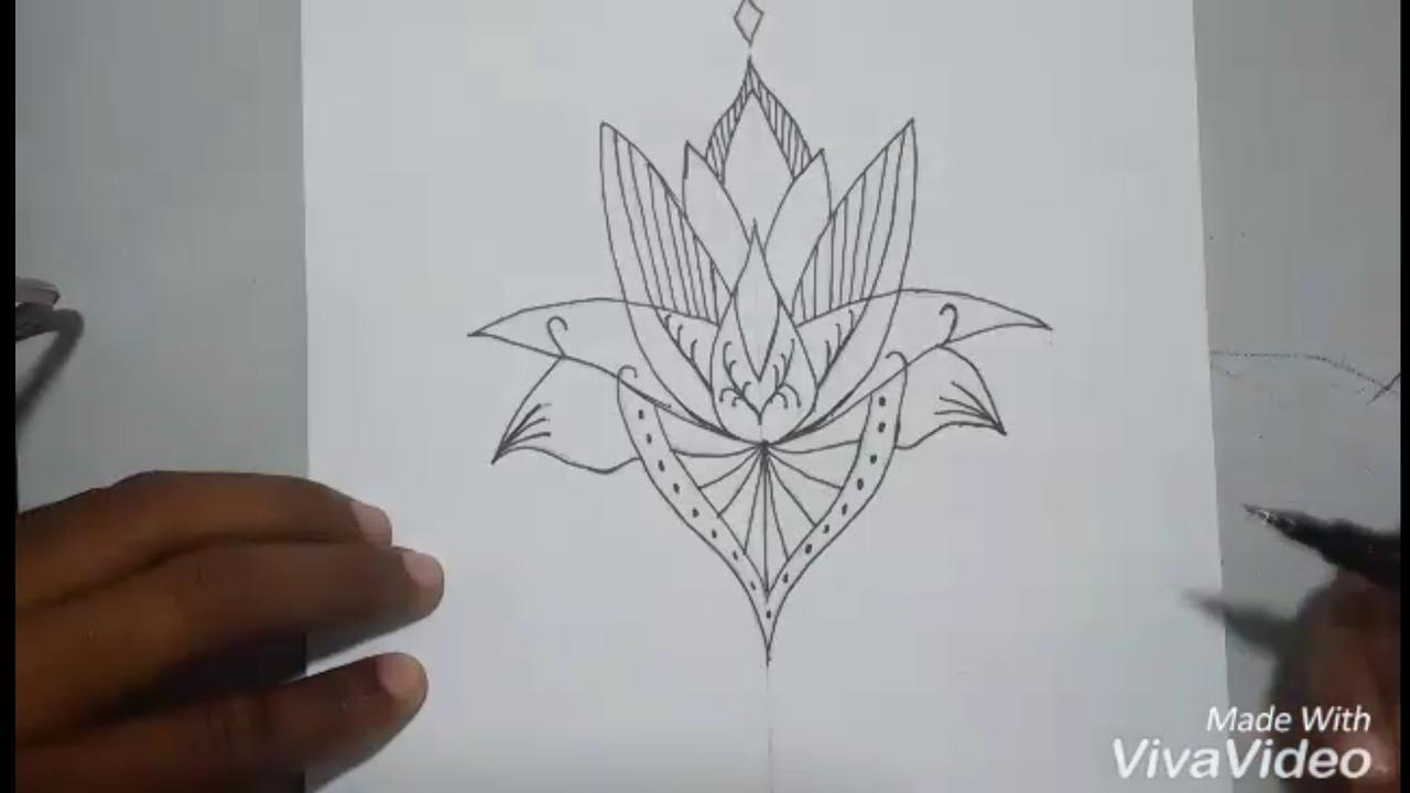 Como Desenhar Uma Flor De Lótus Para Tatuagem Passo A Passo