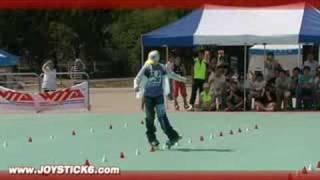 Amazing girl Slalom