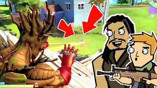 IRON GROOT  & ROACH ROYALE?! | Roach Plays Fortnite: Duos (The Squad)