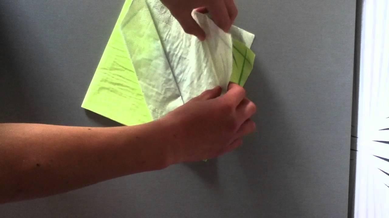 Comment faire un range couvert d coration de table youtube - Comment faire une table en papier ...