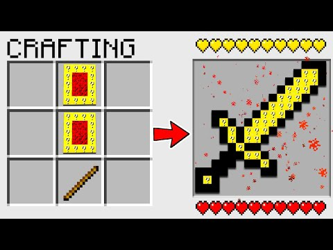 HOW TO CRAFT a PORTAL LUCKY BLOCK SWORD in MINECRAFT? SECRET RECIPE *O*
