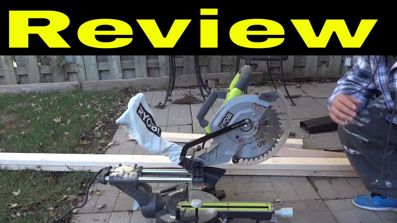 Ryobi 10 Inch Sliding Miter Saw Review Youtube