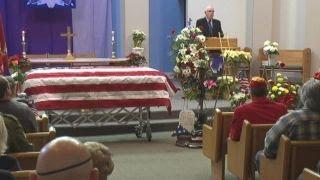 Funeral held for abandoned veteran