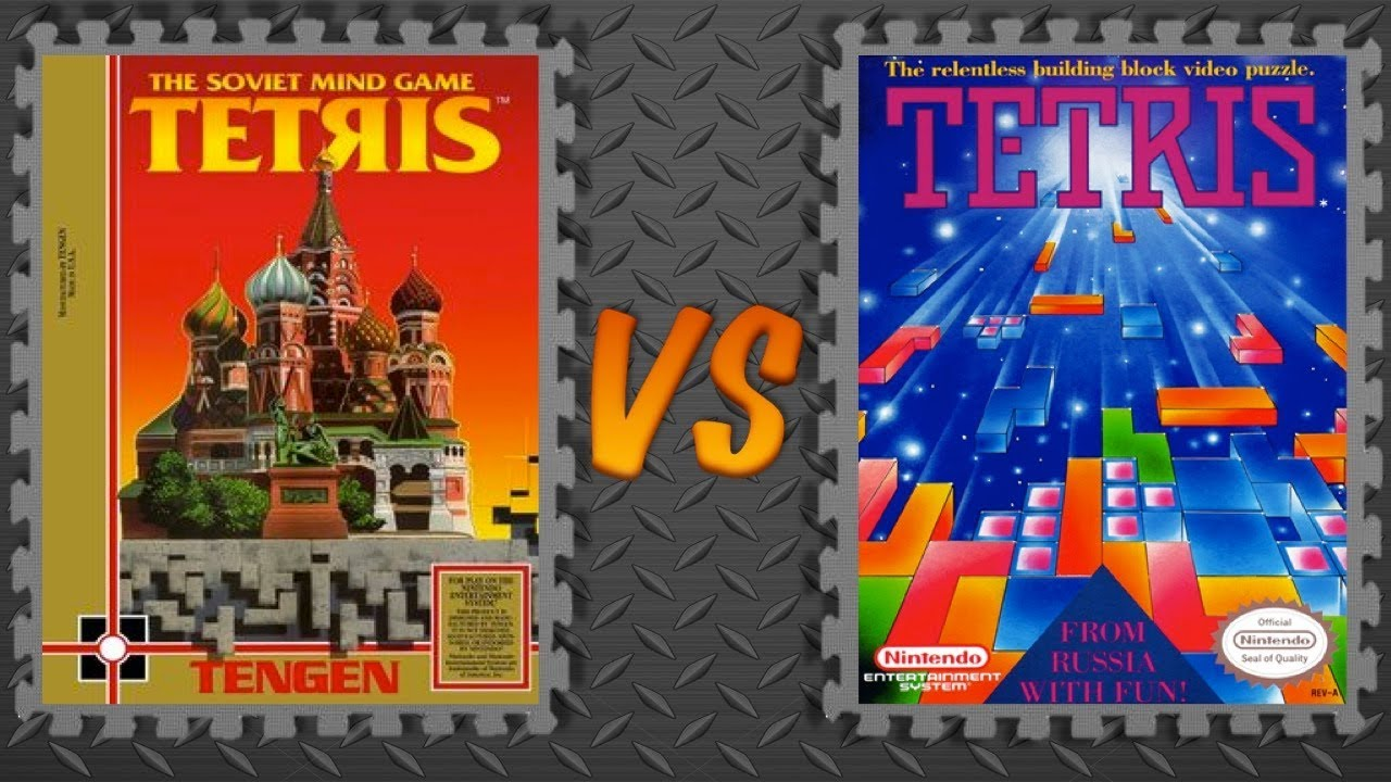 Image result for tengen tetris vs nintendo tetris
