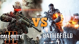 Call of Duty Black Ops 3 VS BATTLEFIELD 4 Graphics Comparison in 4K