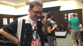 Tom Kenny talking to my girlfriend's brother on the phone