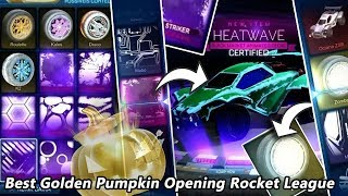 Best Golden Pumpkin Opening Rocket League