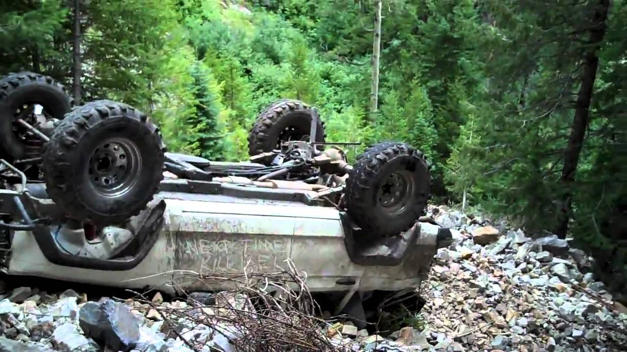 Black Bear Pass Colorado >> Wrecked Jeep at Devils Punchbowl.MP4 - YouTube