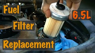 1996 1997 1998 1999 Gm Truck 6.5l Turbo Diesel Fuel Filter Replacement  Chevy & Gmc