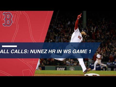 International calls of Nunez's World Series home run