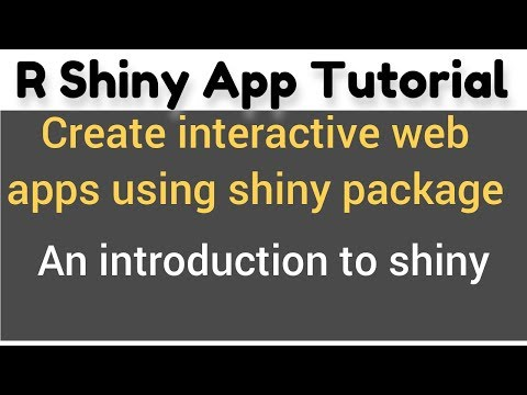R Shiny app tutorial # 1 - How to make shiny apps - An introduction