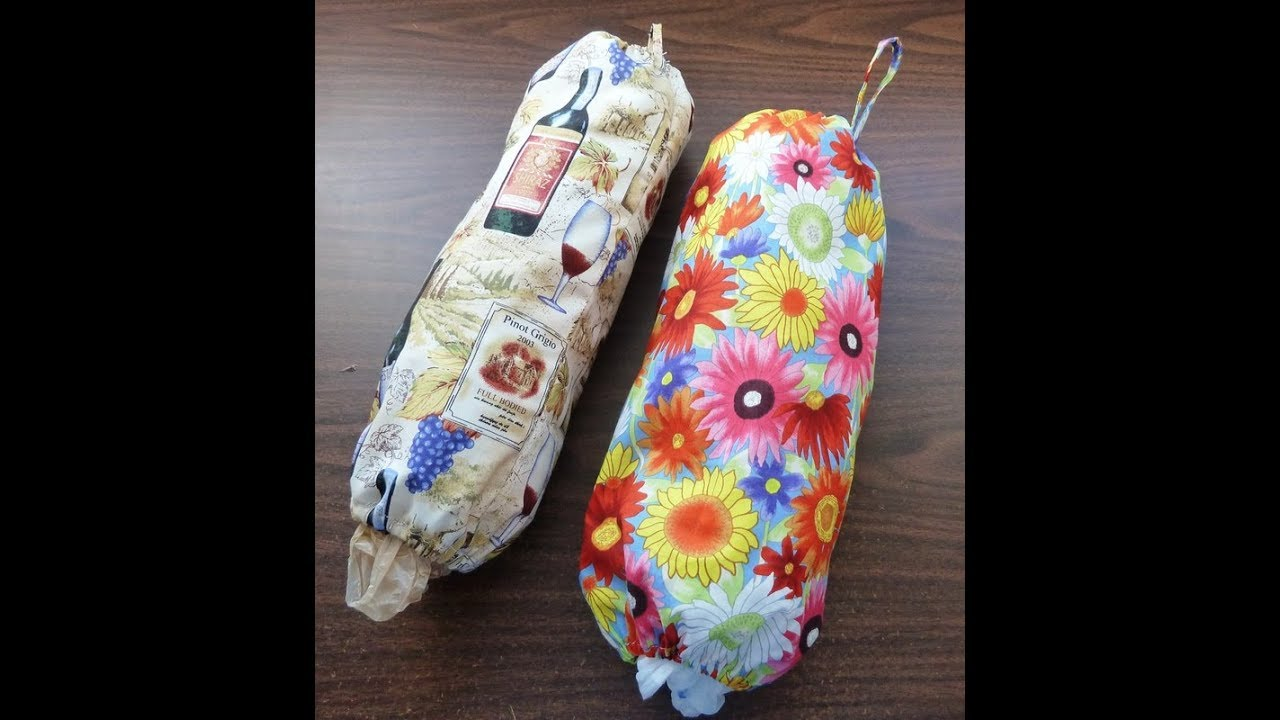 Grocery Sack And Bag Holder From Fabric