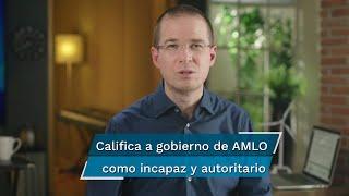 En un pequeño video que se transmitió a través de las redes sociales del PAN, Ricardo Anaya Cortés calificó al gobierno de Andrés Manuel López Obrador de incapaz y autoritario y dijo que frente a un Presidente que siembra el odio, divide y polariza
