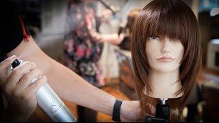 Tiered Weightless Bangs and Face Frame Haircut Tutorial   MATT BECK VLOG 69