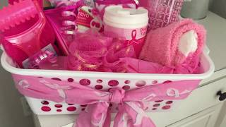 Dollar Tree | Gift Basket | Breast Cancer