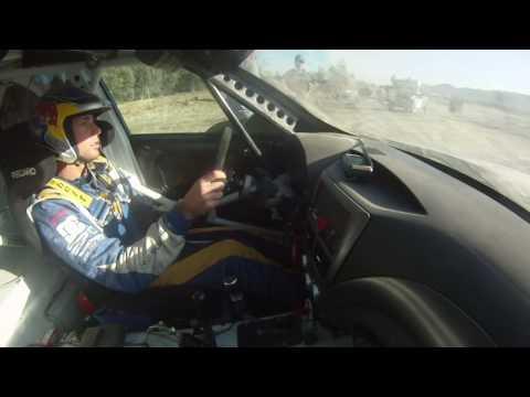 Travis Pastrana's Rally Jump Practice. Crashes The WRX STI.