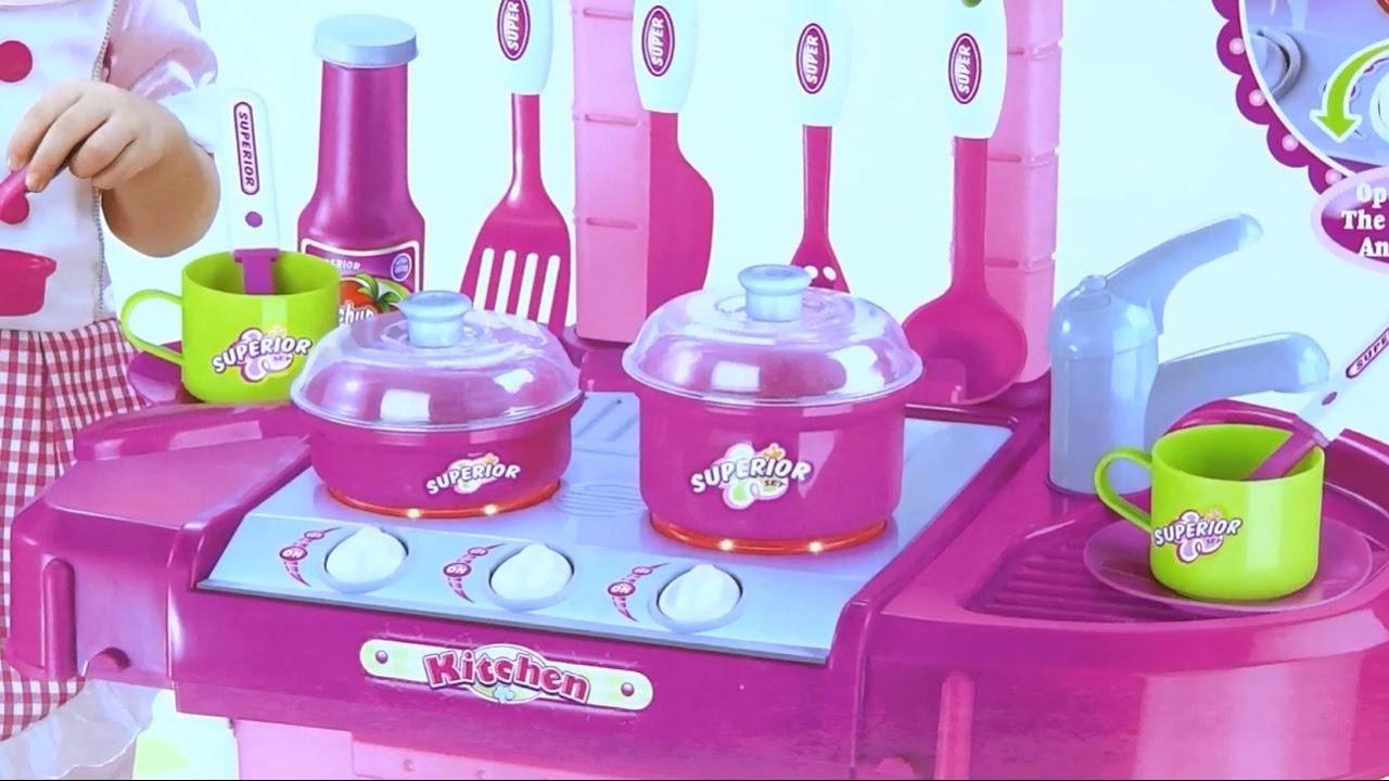 Cocina de juguete cocinita para ni as con accesorios se for Cocina de juguete