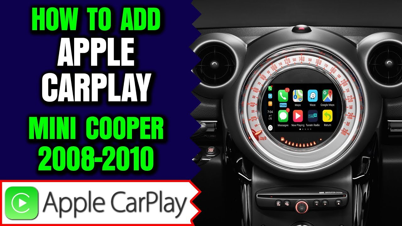 Mini Cooper Apple CarPlay - How To Add Apple CarPlay Mini Cooper 2008-2010  NavTool Video Interface