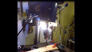 Доработка сверлильного станка. Лазер. Подстветка. Einhel BT-BD 501