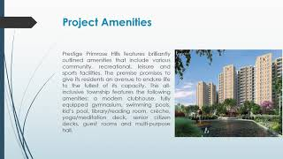 Prestige Apartment New Launch Primrose Hills South Bangalore